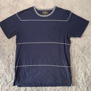 Billabong Navy Stripe Surf Plus T-Shirt Men's XL
